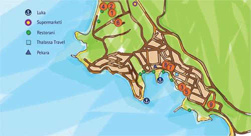 Mapa Neos Marmaras