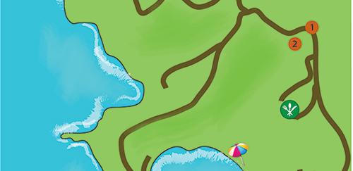 Mapa zaliv Simonitiko