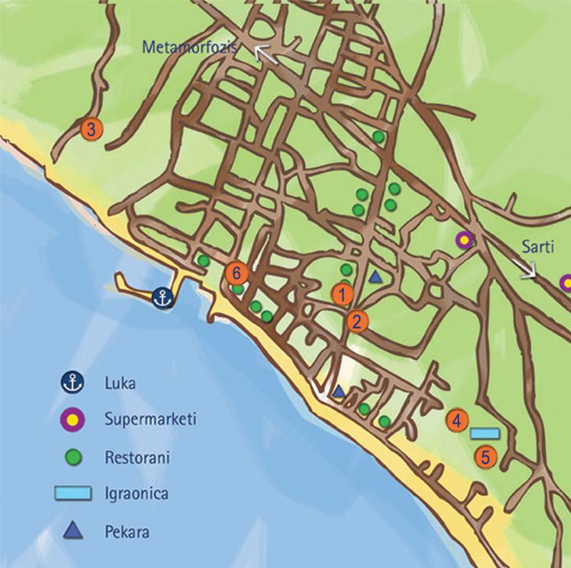 nikiti mapa Grcka Letovanje 2018   Nikiti   Astra Travel – Grcka leto 2018  nikiti mapa