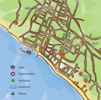 Mapa Nikiti